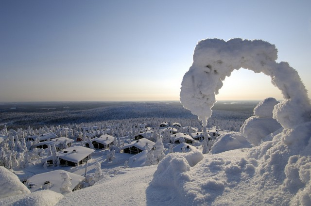 White winter in Levi, Finnish Lapland from Visit Finland CC BY-NC http://www.flickr.com/photos/visitfinland/5302942006/